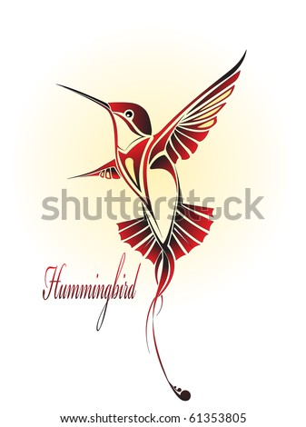 hummingbird color - stock vector