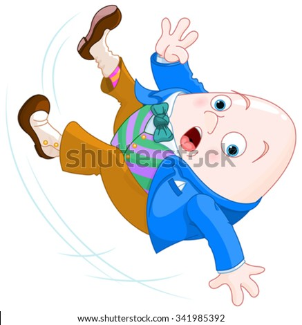 Humpty Dumpty falls down - stock vector