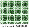 Hundred of environmental icons (vector) - stock photo