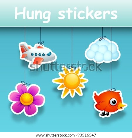 hung stickers