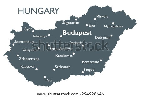 Hungary Map Stock Images RoyaltyFree Images Vectors Shutterstock - Hungary map