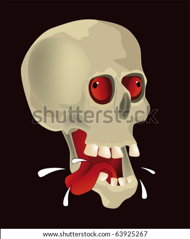 Hungry skull - stock vector