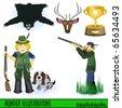 Hunter illustrations - stock vector