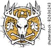 Hunter's Dry Earth Emblem - stock vector