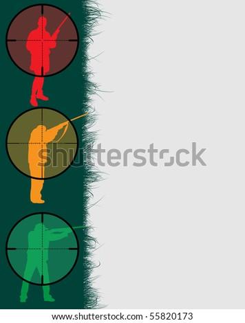 Hunter's frame with sniper sights, vector illustration - stock vector