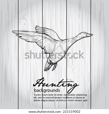 hunting background - vector illustration - stock vector