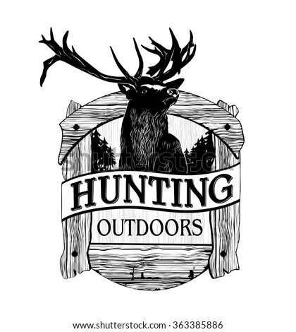 hunting logo. Vector emblems - stock vector