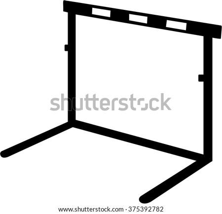 Hurdle icon - stock vector
