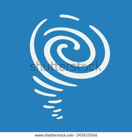 Hurricane symbol - stock vector