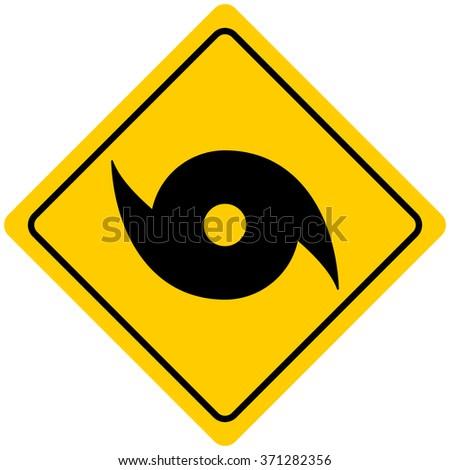 Hurricane Warning Sign - stock vector