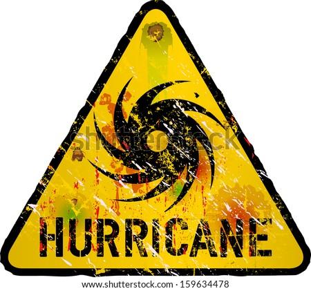 Vector Illustration Black Red Hurricane Warning Stock Vector ...