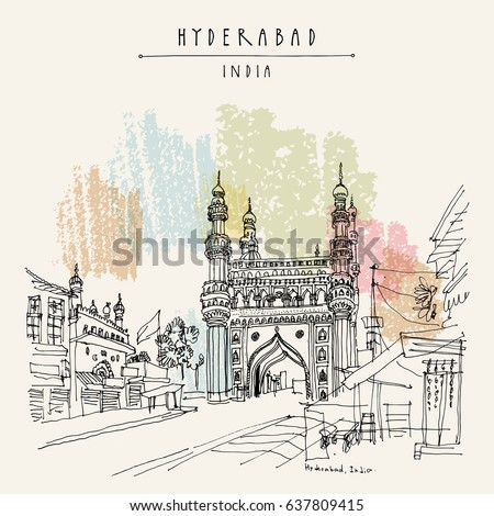 Hyderabad telangana state india charminar famous stock for Table 99 hyderabad telangana