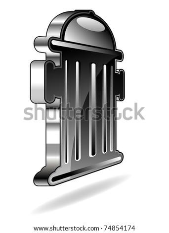 hydrant icon - stock vector