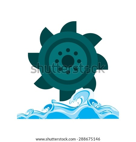 Hydro power, water, dam icon vector image. Can also be used for energy and technology. Suitable for web apps, mobile apps and print media. - stock vector