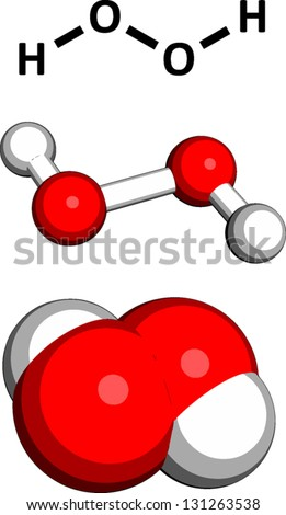 Hydrogen Peroxide H 2 O 2 Molecule Chemical Structure Stock Vector