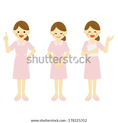 hygienist / Vector EPS 10 illustration - stock vector