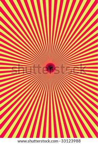 Hypnotic illusion - solar eclipse - stock vector