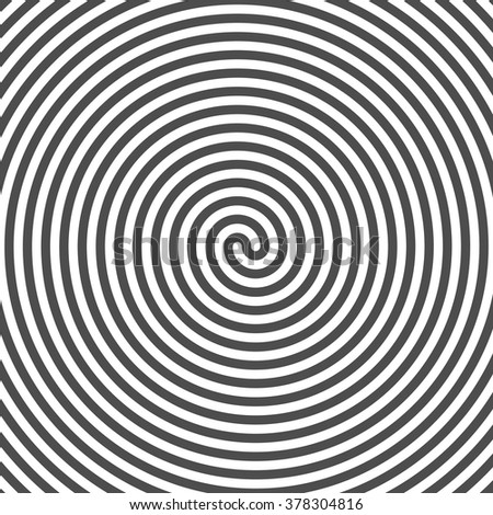 Hypnotic Spiral Background. Vinyl Grooves. Optical Illusion. Vector. - stock vector