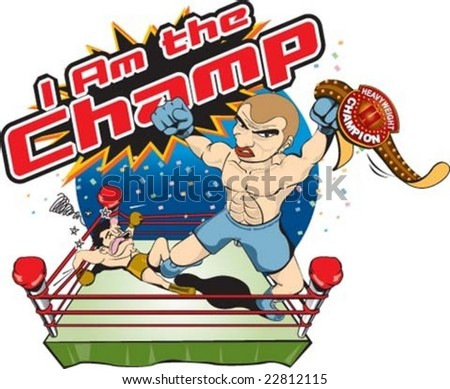 I am the champion - stock vector