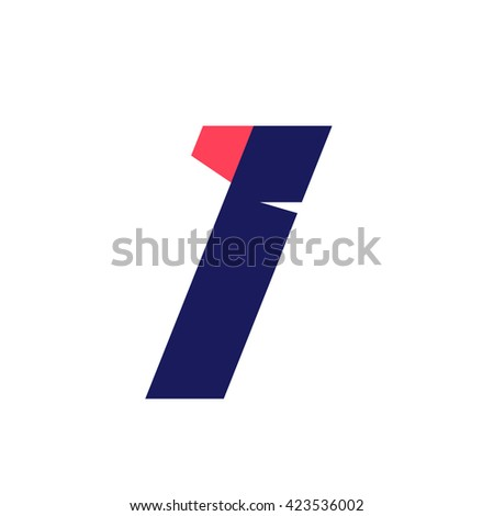 I letter run logo design template. Vector sport style typeface for sportswear, sports club, app icon, corporate identity, labels or posters. - stock vector