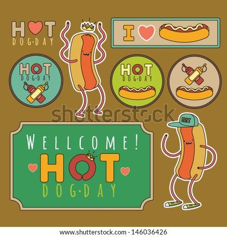 I like hotdog - Hot Dog Day - stock vector