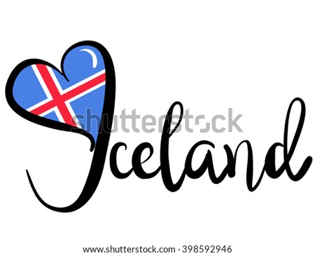 I Love Iceland - Vector Graphic