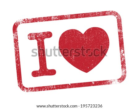I Love ink - stock vector