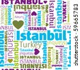 I love istanbul seamless background pattern in vector - stock photo