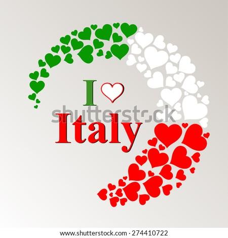 I Love Italy. Vector Illustration - stock vector