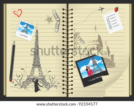 I love Paris - stock vector