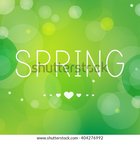 I love Spring background  - stock vector
