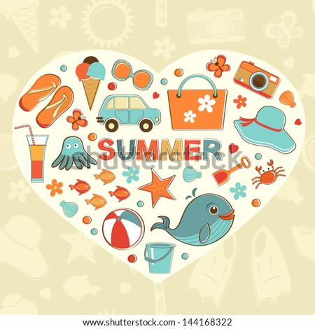 I love summer colorful background in vector format - stock vector