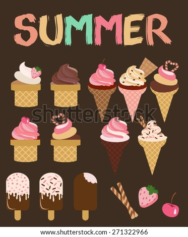 I love summer. Ice cream
