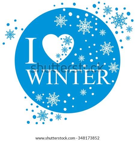 Love winter greeting card snow background stock vector 348173852 i love winter greeting card snow background m4hsunfo