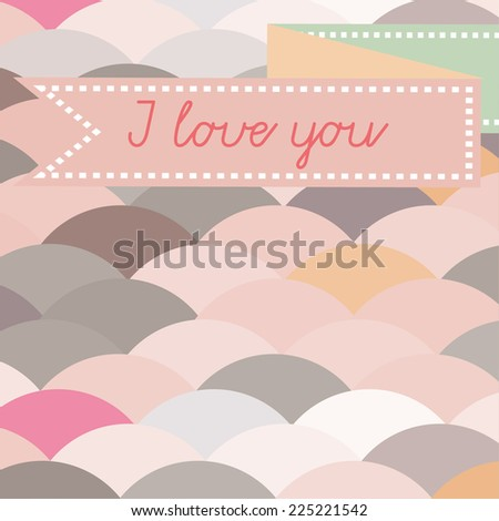 i love you abstract card