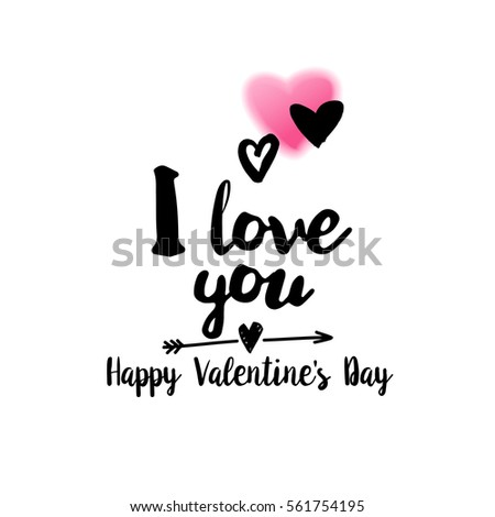 Love you happy valentines day typography stock vector royalty free i love you and happy valentines day typography greetings quote for holiday romantic saying m4hsunfo