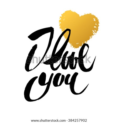 I love you gold calligraphy stock photos images I love you calligraphy