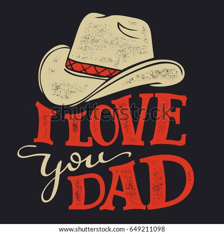 love you dad fathers day greeting stock vector 649211098 shutterstock
