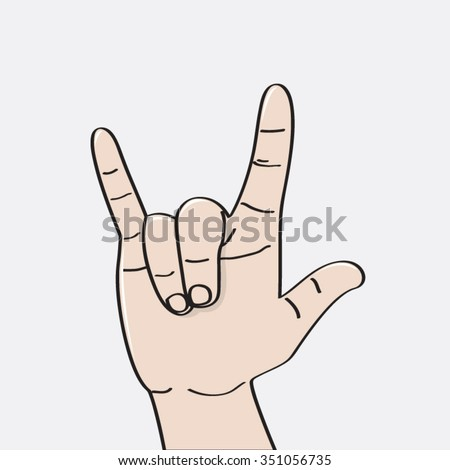 Love You Language Hand Sign Icon Stock Vector Royalty Free