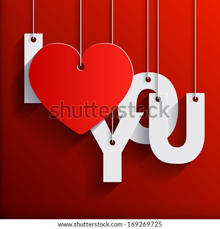 love you paper origami background card stock photo (photo, vector
