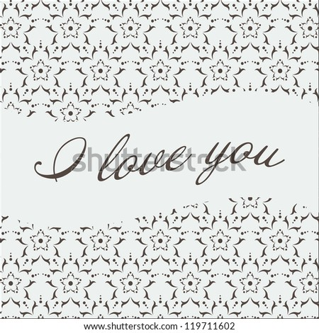 I love you pattern - stock vector