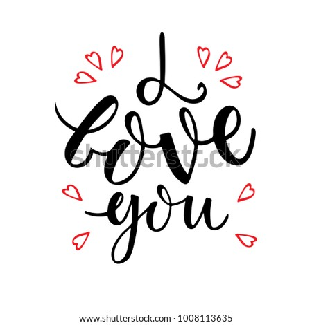 Love Youtypography Poster Wedding Phrase Card Stock Vector 2018