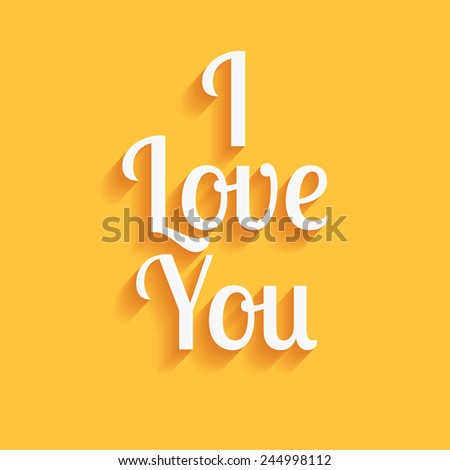 I love you - vector - stock vector