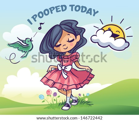 I Pooped Today - stock vector