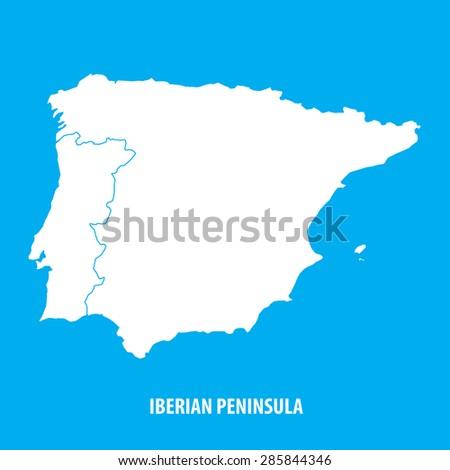 Iberia Map Stock Images RoyaltyFree Images Vectors Shutterstock - Portugal map iberian peninsula