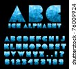 Ice Alphabet With Numbers - stock photo