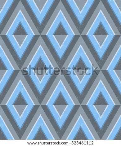 ice cold geometric seamless pattern, minimalistic polygon art, five colors, each color in a separate group, vector EPS 8 - stock vector