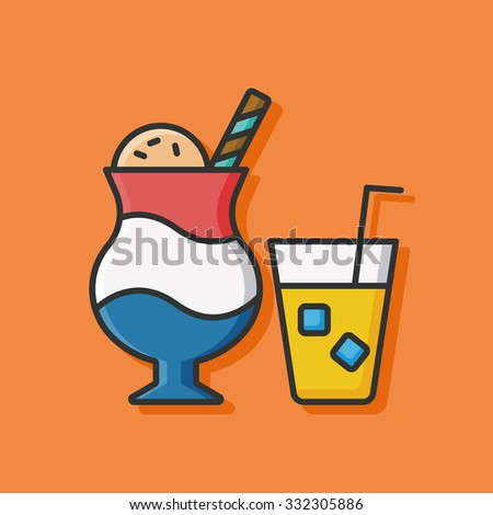 ice cream and drink icon