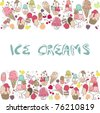ice cream border - stock