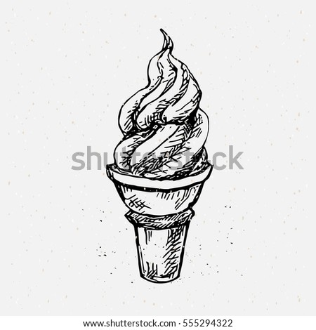 Ice cream cone drawing
